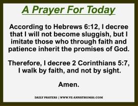 Prayer for Today - Thurs 29 Oct 2020
