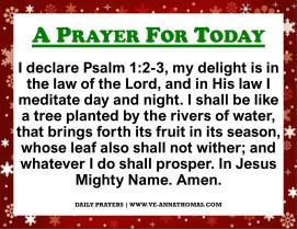 Prayer for Today - Thurs 3 Dec 2020
