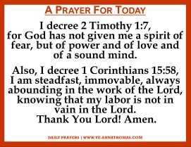 Prayer for Today - Thurs 5 Nov 2020