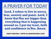 Prayer for Today - Thurs 6 Aug 2020