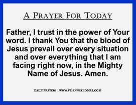 Prayer for Today - Thurs 8 Oct 2020