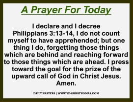 Prayer for Today - Tues 27 Oct 2020