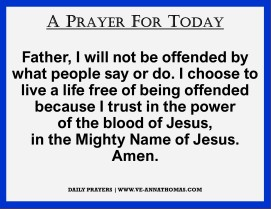 Prayer for Today - Tues 6 Oct 2020