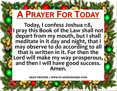 Prayer for Today - Tues 8 Dec 2020
