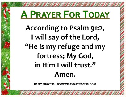 Prayer for Today - Wed 16 Dec 2020