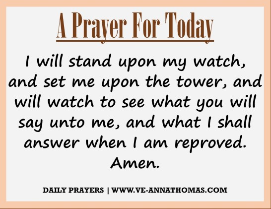 Prayer for Today - Wed 19 Aug 2020