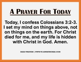 Prayer for Today - Wed 25 Nov 2020
