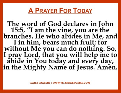 Prayer for Today - Wed 4 Nov 2020