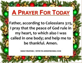 Prayer for Today - Wed 9 Dec 2020